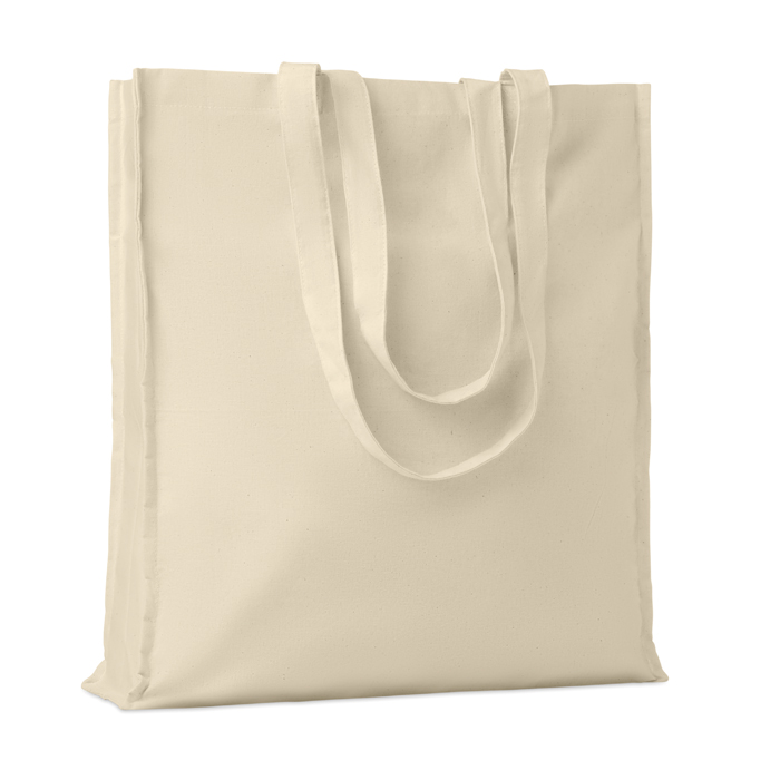 Cotton shopping bag w/ gusset